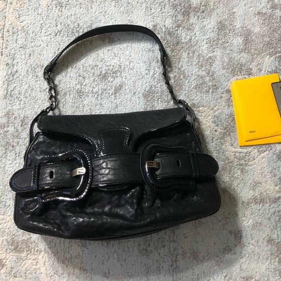 Fendi Handbags - Fendi Napa Vernice Buckle Shoulder bag EUC
